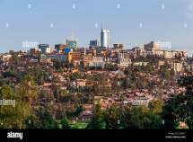 Panoramic View City Bussiness District Of Kigali