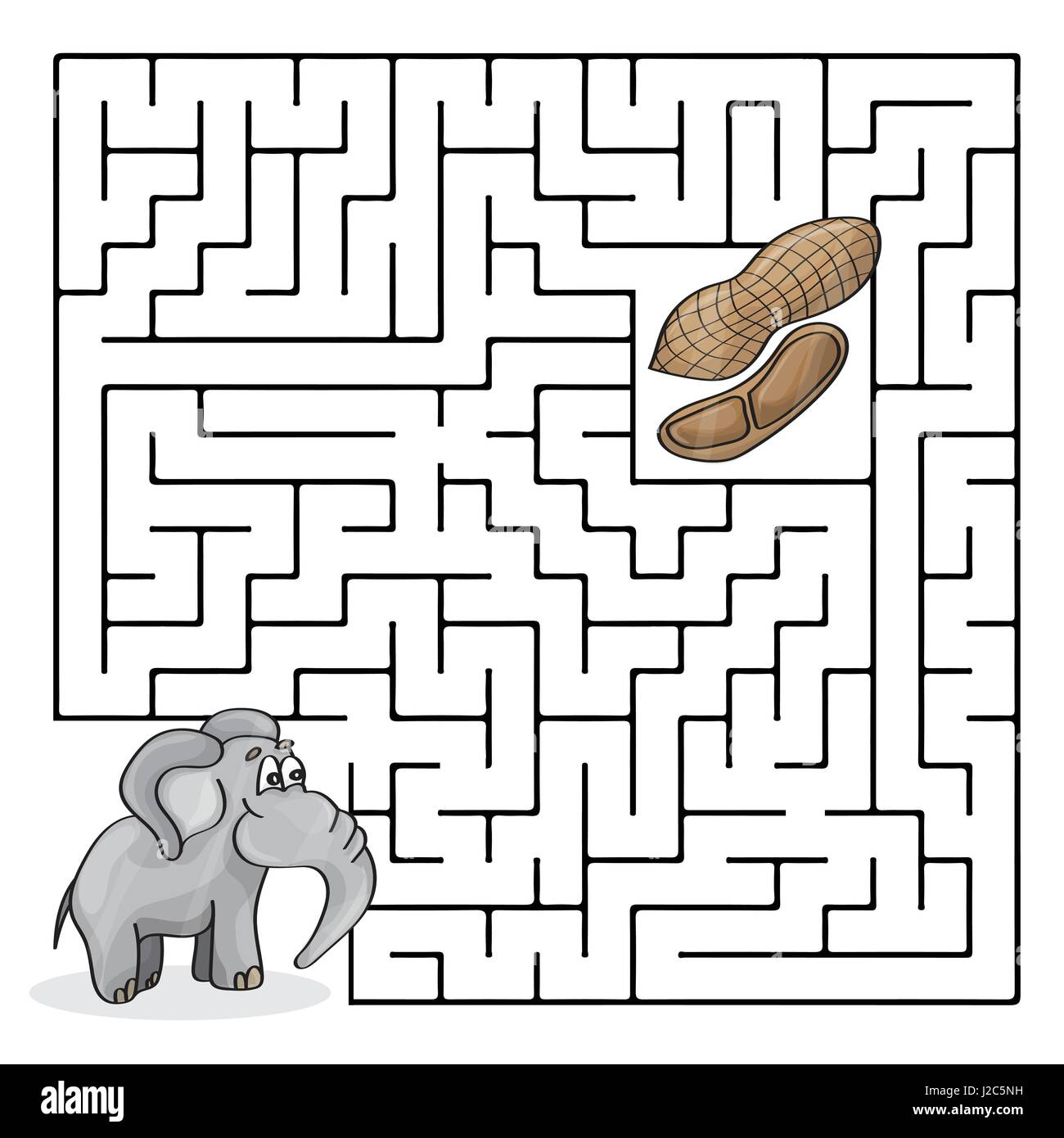 Education Maze Or Labyrinth Game For Children With Cute