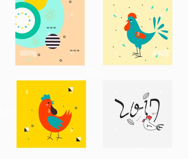 Illustration Of New Years Greeting Cards In