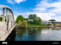 Bridge Of Kaarsild River Emajogi Tartu Estonia Baltic