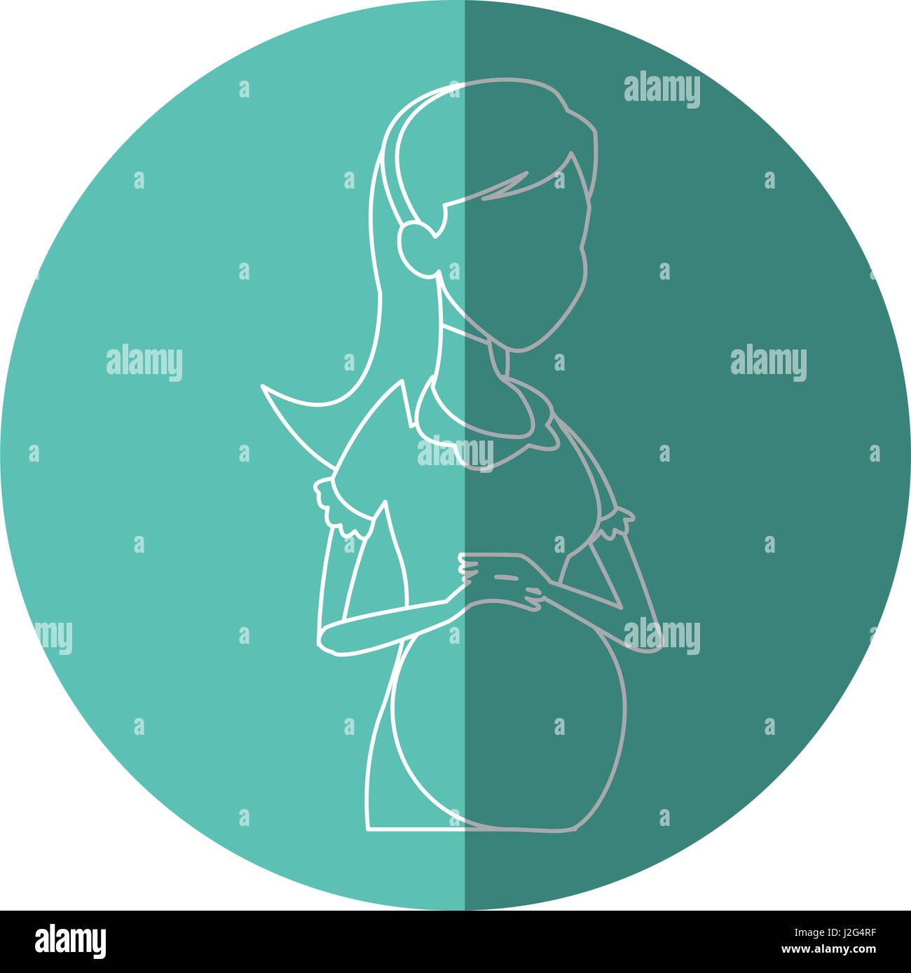 hight resolution of silhouette pregnant woman belly maternity