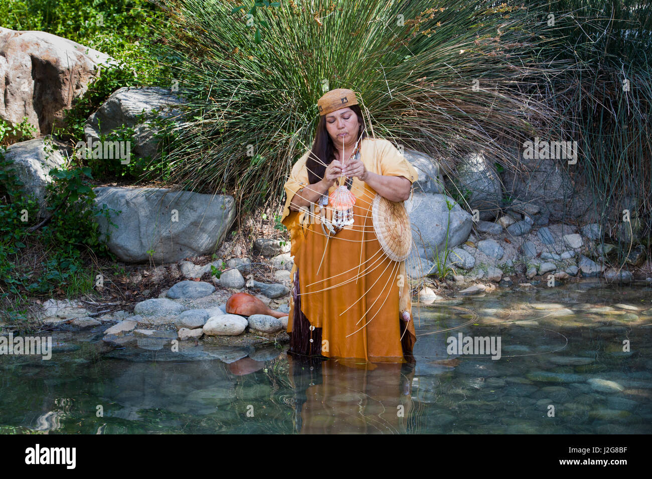 Traditional California Native American Woman Of The