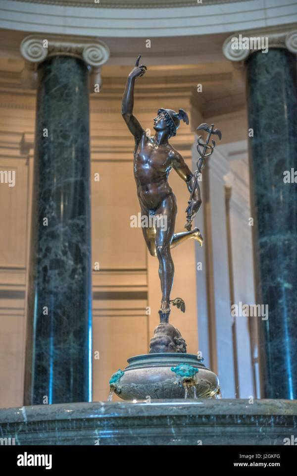 Sculpture Of Mercury Stock &