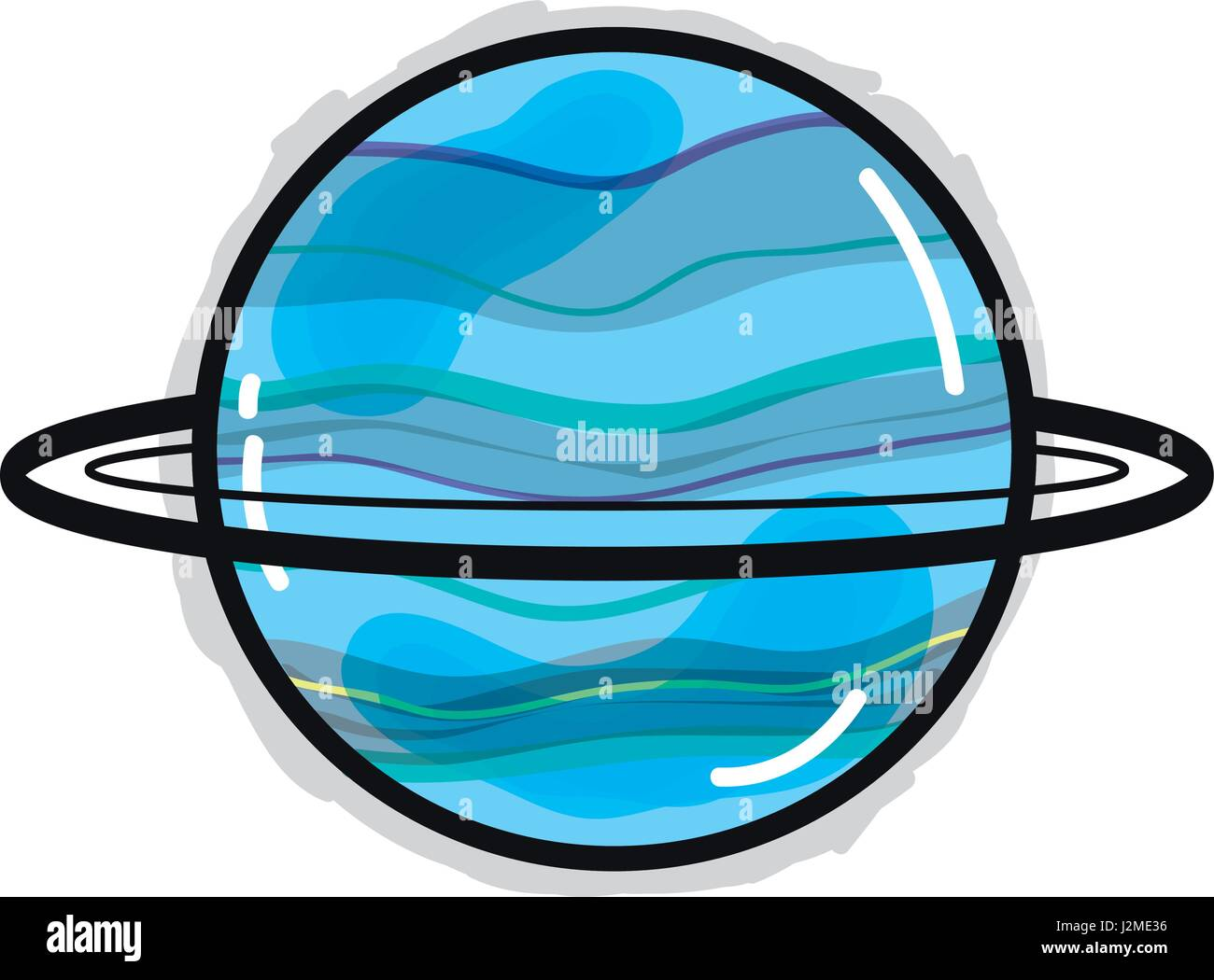hight resolution of exploration uranus planet in the galaxy space