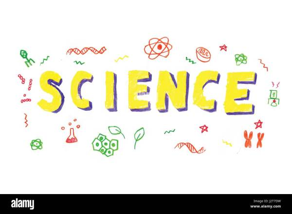 Illustration Of Science Word In Stem - Technology