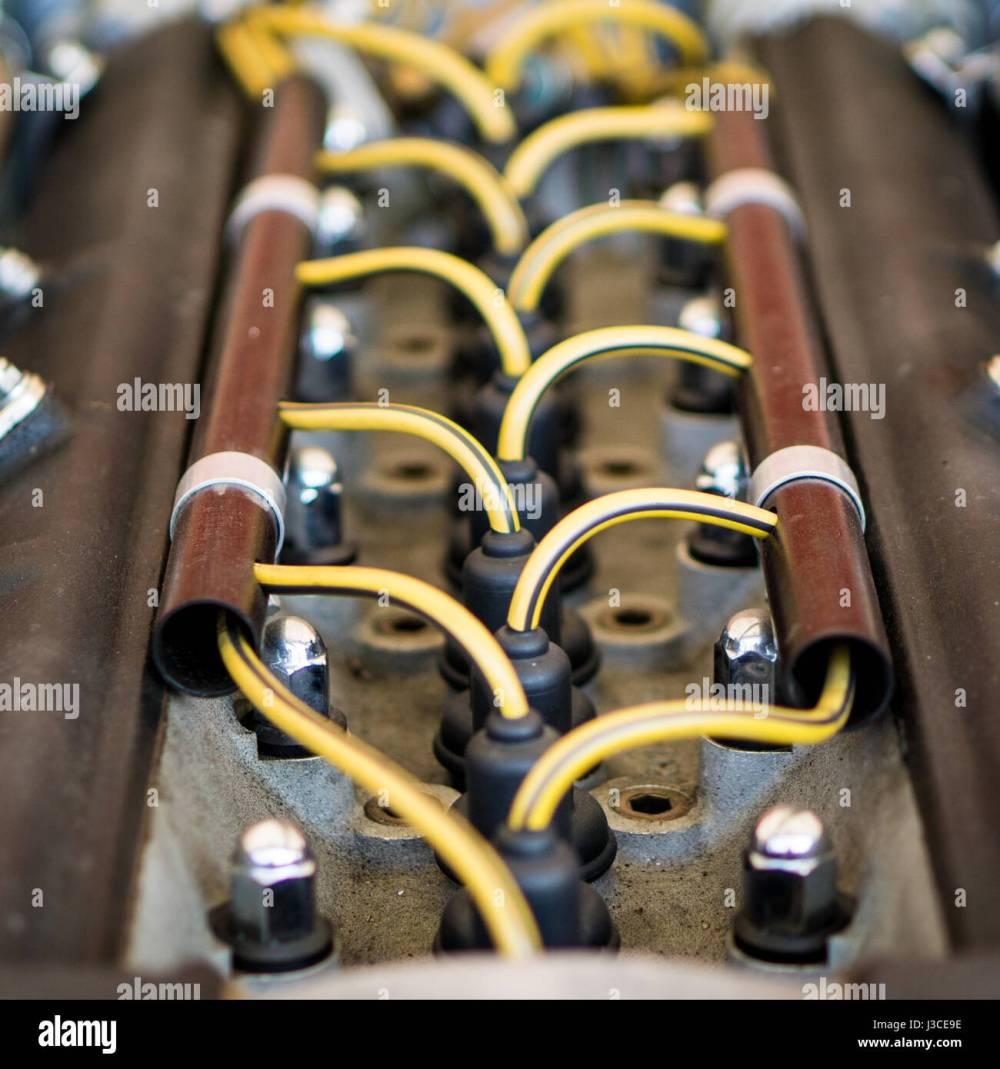 medium resolution of vintage race car engine spark plug wiring