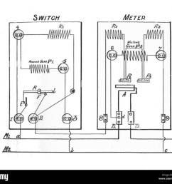 gec two rate electricity meter circuit rankin kennedy electrical installations vol ii 1909  [ 1300 x 1173 Pixel ]