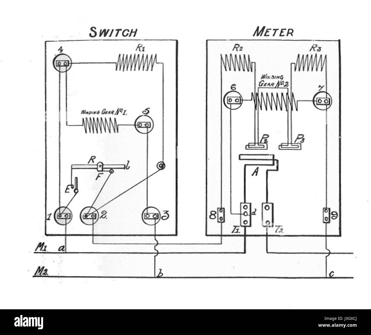 hight resolution of gec two rate electricity meter circuit rankin kennedy electrical installations vol ii 1909