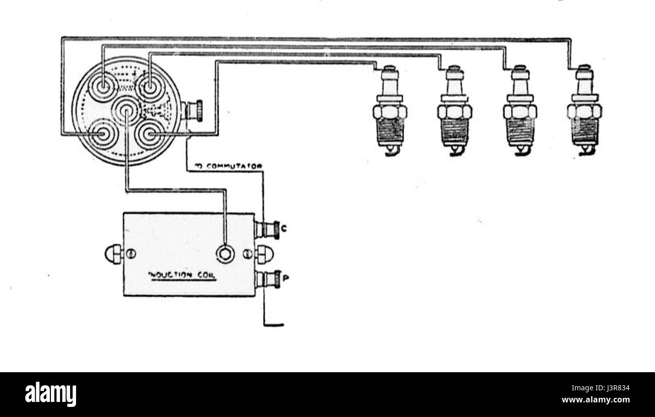 hight resolution of induction coil and distributor ignition circuit rankin kennedy modern engines vol ii