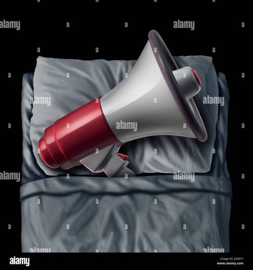 small resolution of snoring concept and sleep apnea sleeping problem causing loud bedtime noise as a megaphone or bullhorn