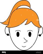 color silhouette cartoon face woman