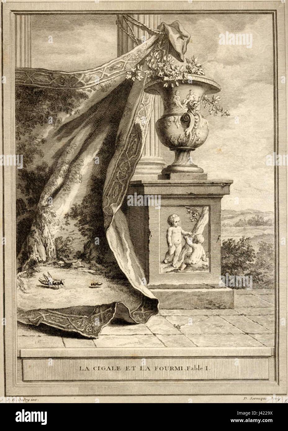 Illustration La Cigale Et La Fourmi : illustration, cigale, fourmi, Cigale, Fourmi, Stock, Photo, Alamy