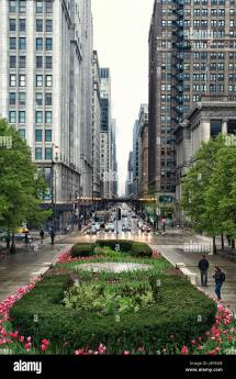 Chicago Magnificent Mile Lights Stock &