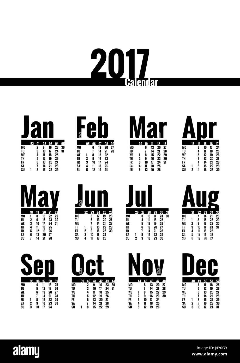 wallpapers 2017 Poster Calendar Template alamy