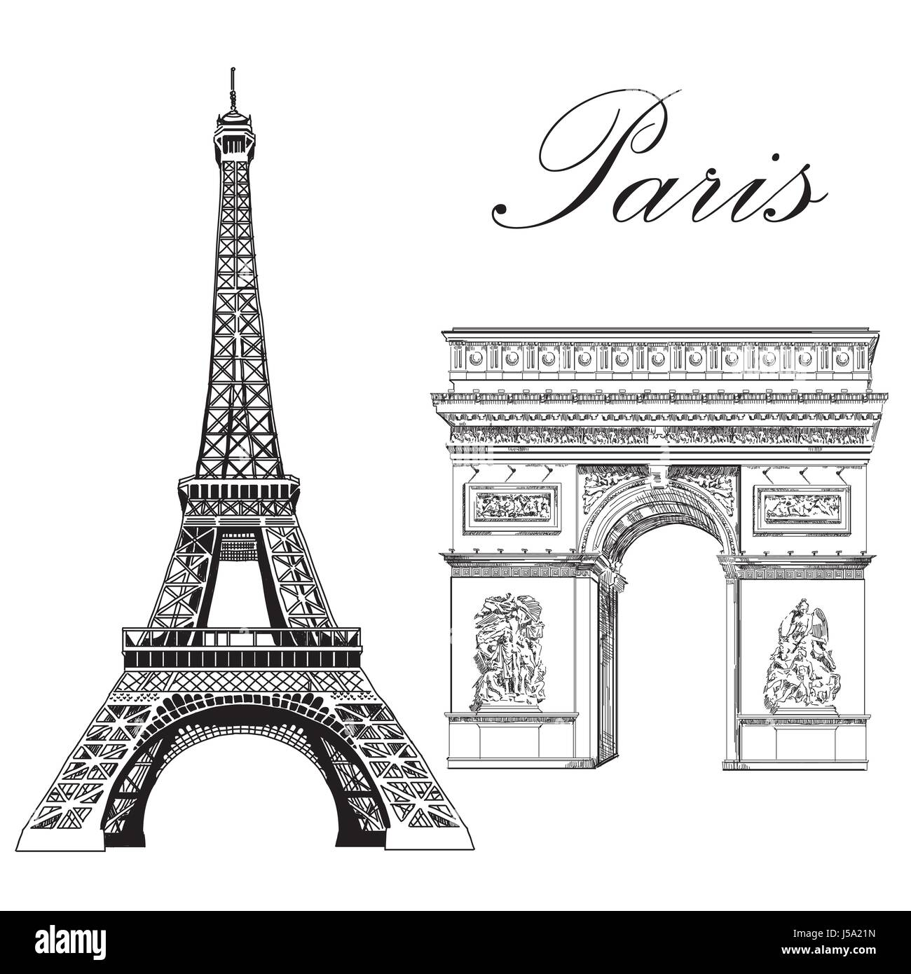 Eiffel Tower Drawing Stock Photos Amp Eiffel Tower Drawing