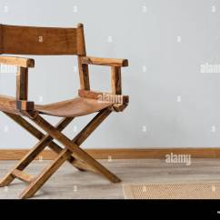 Leather Directors Chair Rustic Rocking Chairs Stock Photos Wooden Image