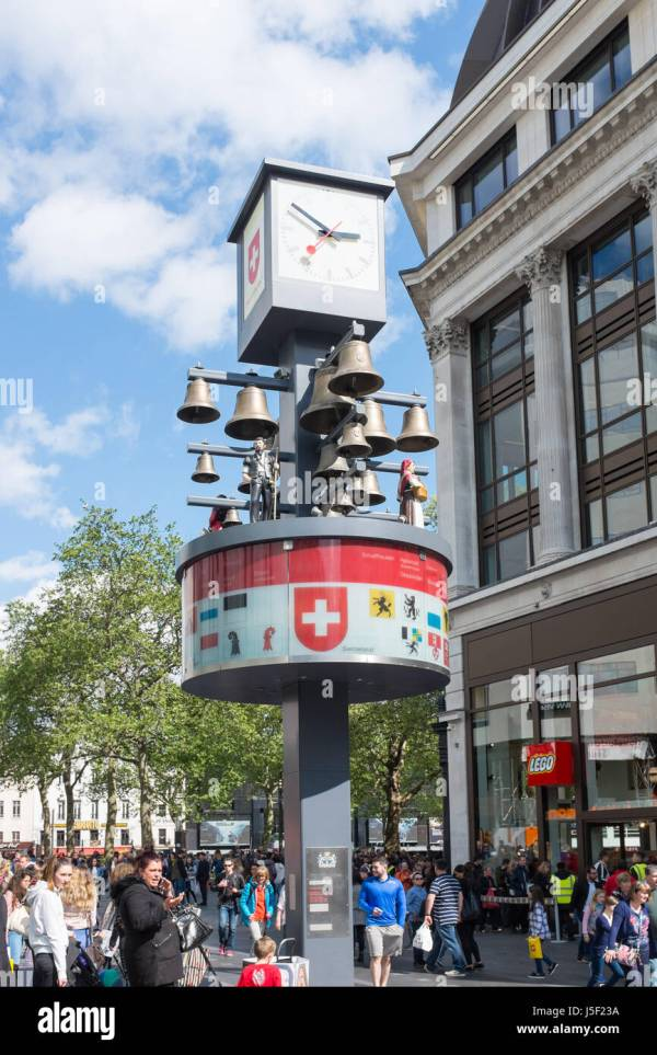 Swiss Glockenspiel In Court Leicester Square London' Stock Royalty Free