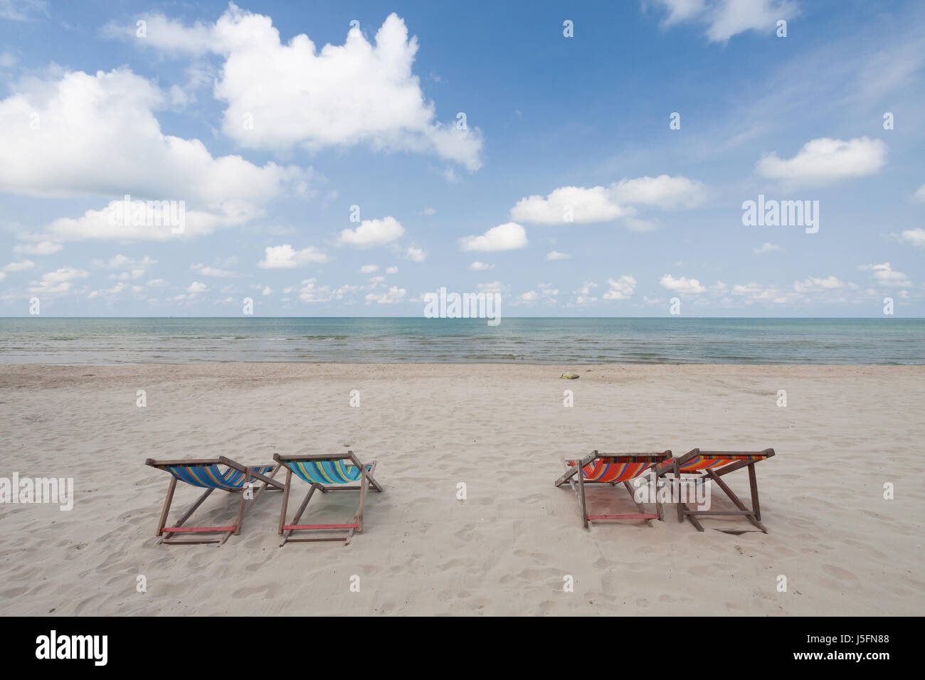 perfect beach chairs metal outdoor dining on tropical white sand stock photo
