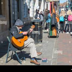 Guitar Playing Chair Hanging Pepperfry One Man Band Busker Stock Photos And