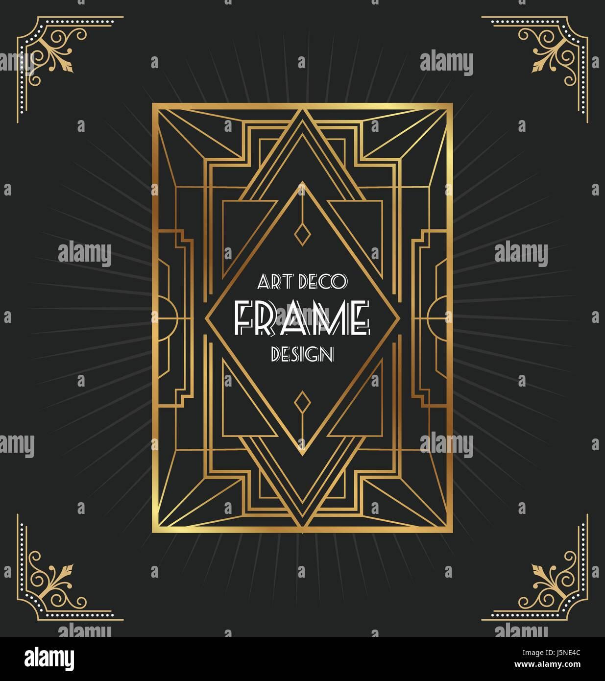 https www alamy com stock photo art deco frame design for your design such as invitation print banner 141228316 html
