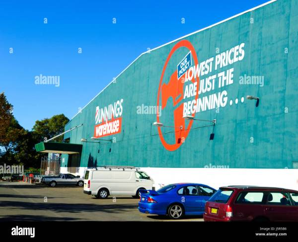 Bunnings Warehouse Hardware Store Signage South Wales Nsw Stock Royalty Free