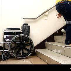 Wheelchair Up Stairs Heavy Duty Rocking Chair Person Stock Photos And