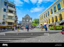 Macau China- 11 2017 Unidentified People Walking