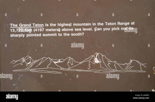 small resolution of lunch tree hill information sign with teton range diagram mount moran to grand teton with height of grand teton and recognition question wyoming us
