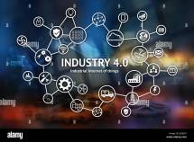 Industrial Internet Of Concept Icon Industry 4