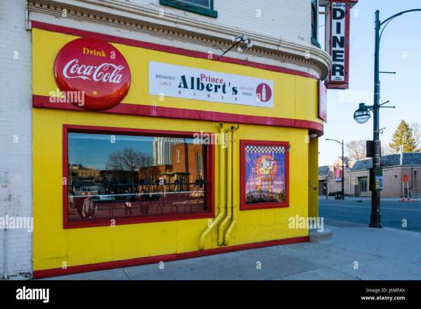 Prince Albert' Diner Fast Food Restaurant In Downtown