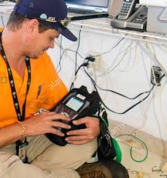 miami beach florida at t u verse cable internet hispanic man technician installation job [ 866 x 1390 Pixel ]