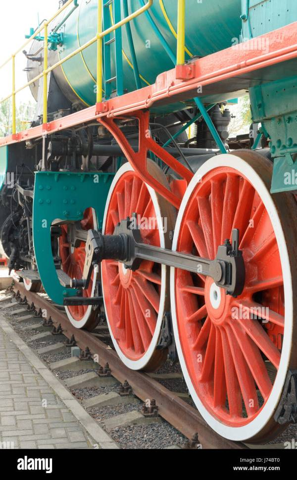Wheels Connecting Rods And Mechanism Of Steam Loco Br - Year