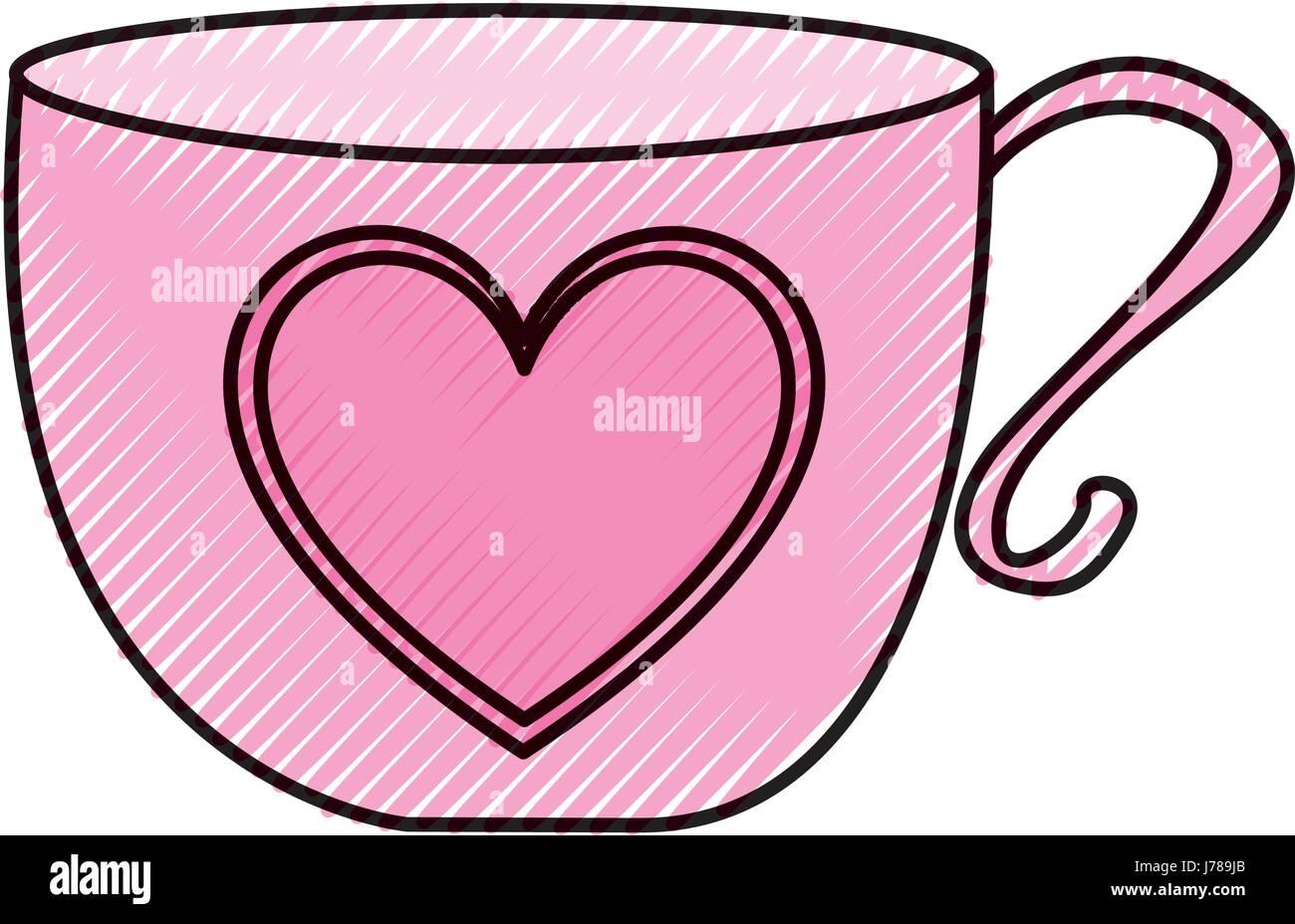 cute tea cup icon Stock Vector Art & Illustration, Vector