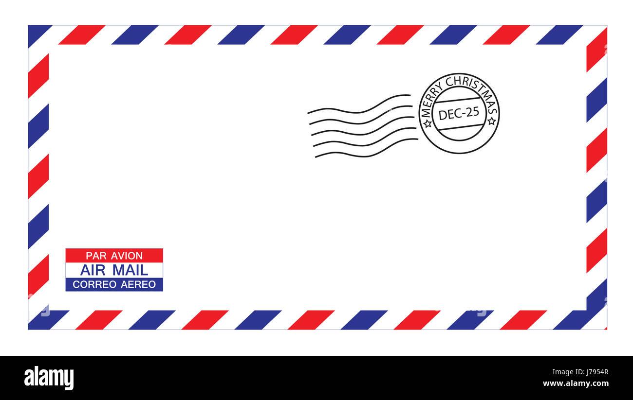 letter mail christmas envelope