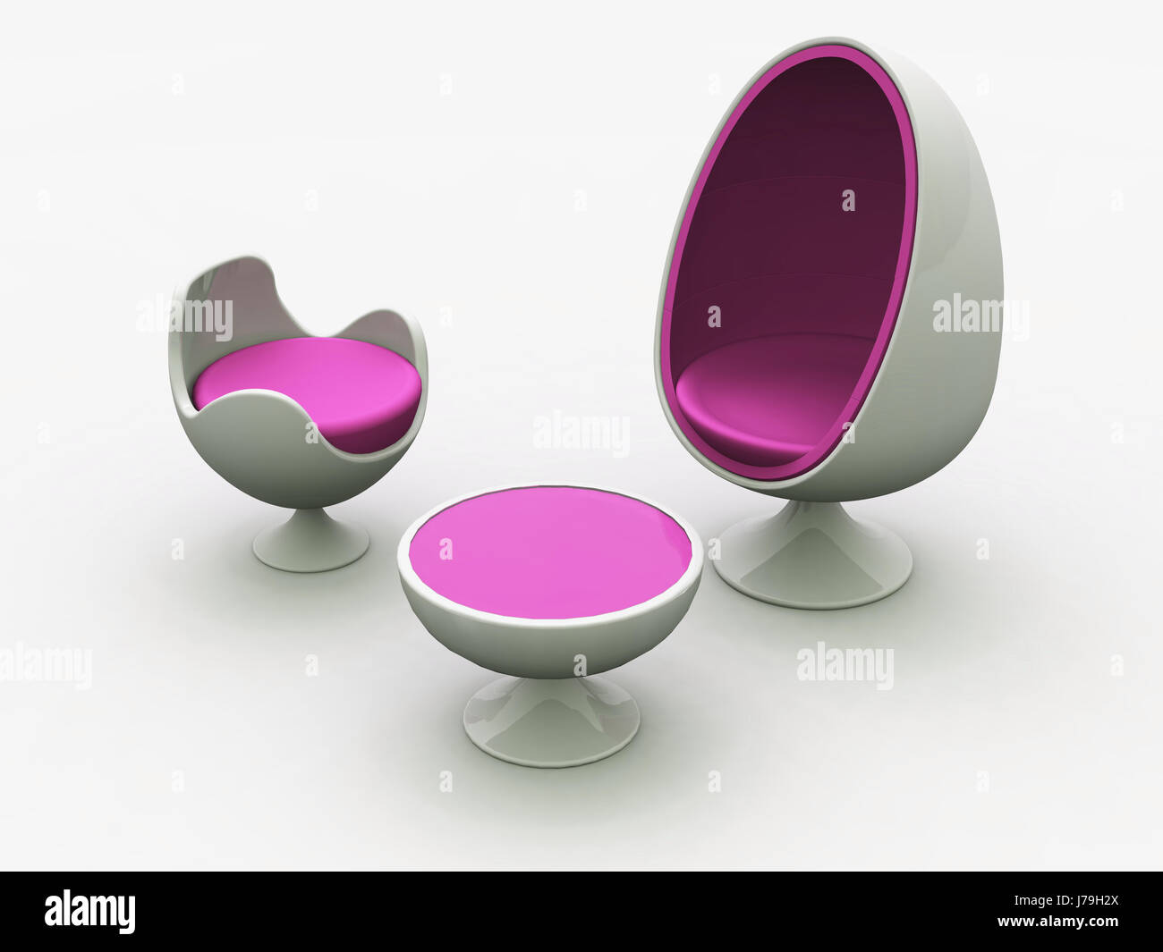 Pink Egg Chair Modern Egg Chair Pink Stock Photo 142196514 Alamy