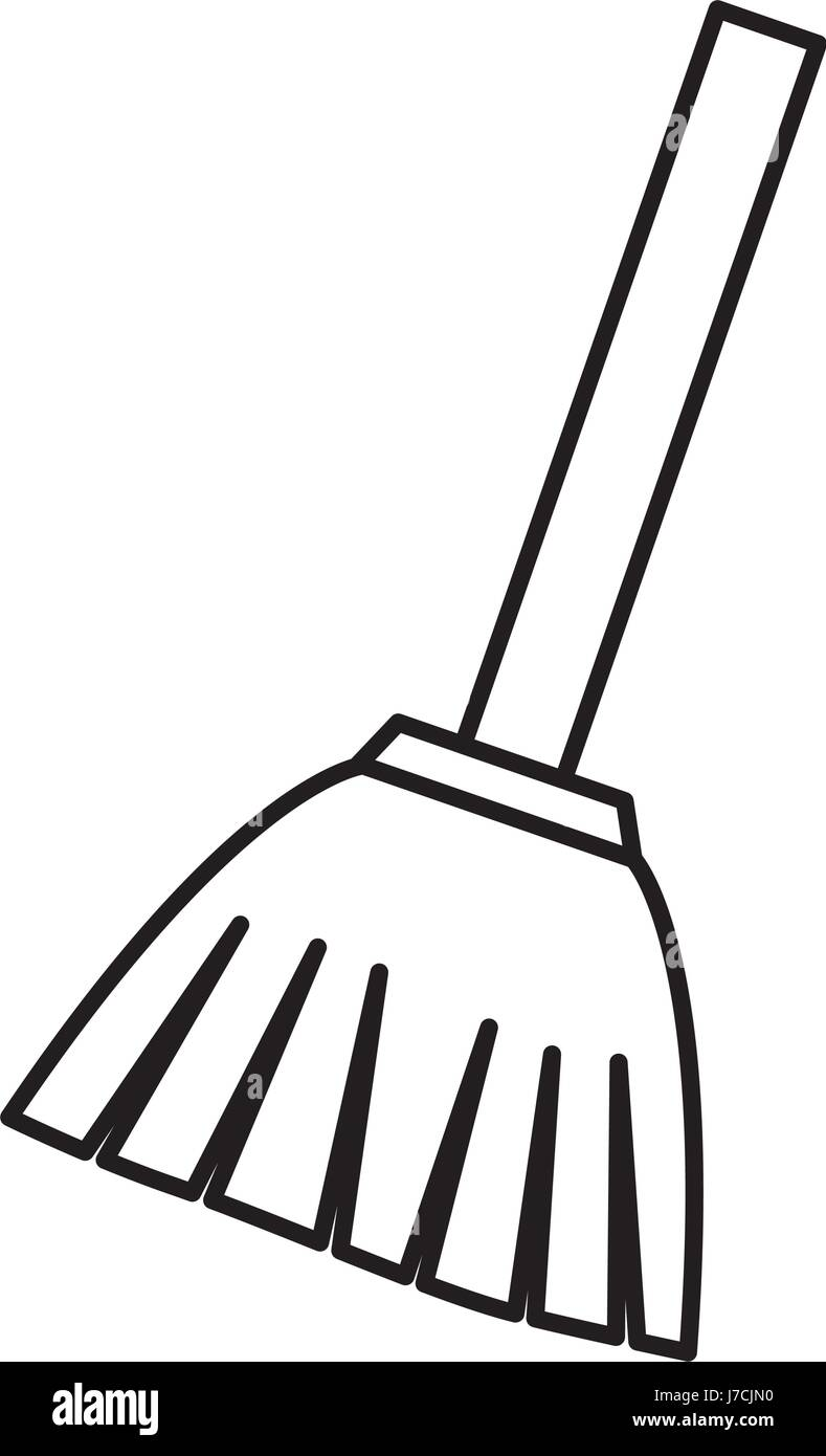 Broom Clipart Black And White : broom, clipart, black, white, Broom, Image, Stock, Vector, Alamy
