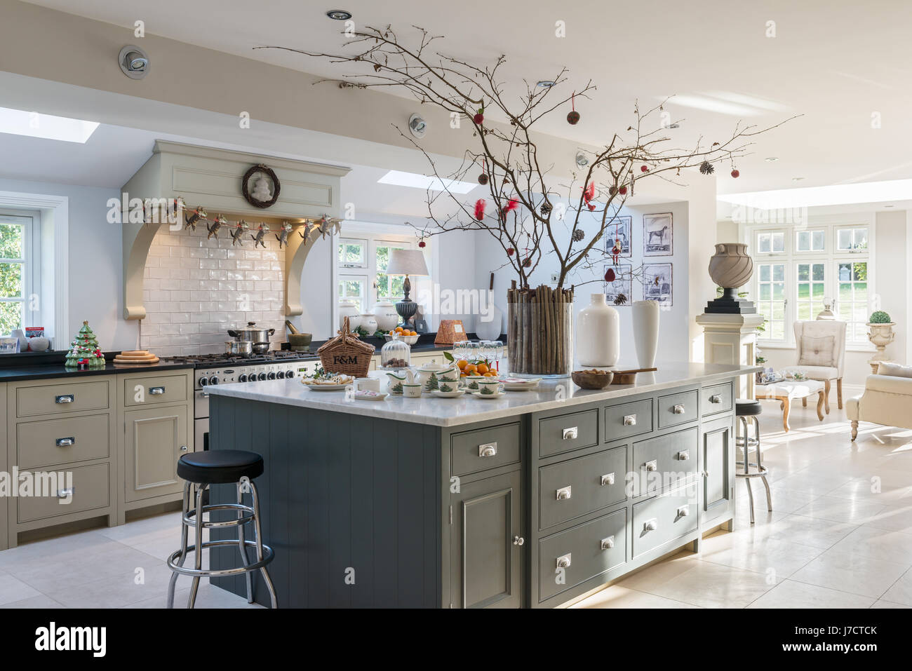 how to decorate your kitchen double sink spacious island unit with christmas decorations in