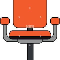 Office Chair Illustration Swivel Bath Stock Vector Art