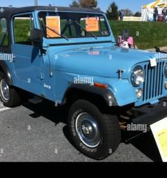1980 jeep cj 7 blue v8 automatic hershey 2012 stock photo 142468881 [ 1300 x 985 Pixel ]