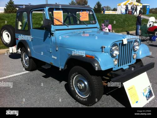small resolution of 1980 jeep cj 7 blue v8 automatic hershey 2012 stock photo 142468881