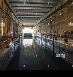 second world war u boat pen in keroman iii bunker lorient submarine base  [ 1300 x 957 Pixel ]