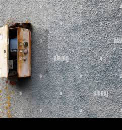 old fashioned electrical fuse box or switching type installation stock image [ 1300 x 967 Pixel ]