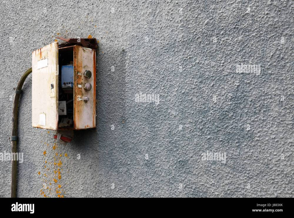medium resolution of old fashioned electrical fuse box or switching type installation stock image