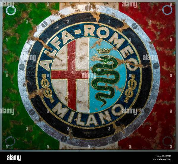 Painting With Logo Alfa Romeo German Artist Ferencz Olivier Stock Royalty Free