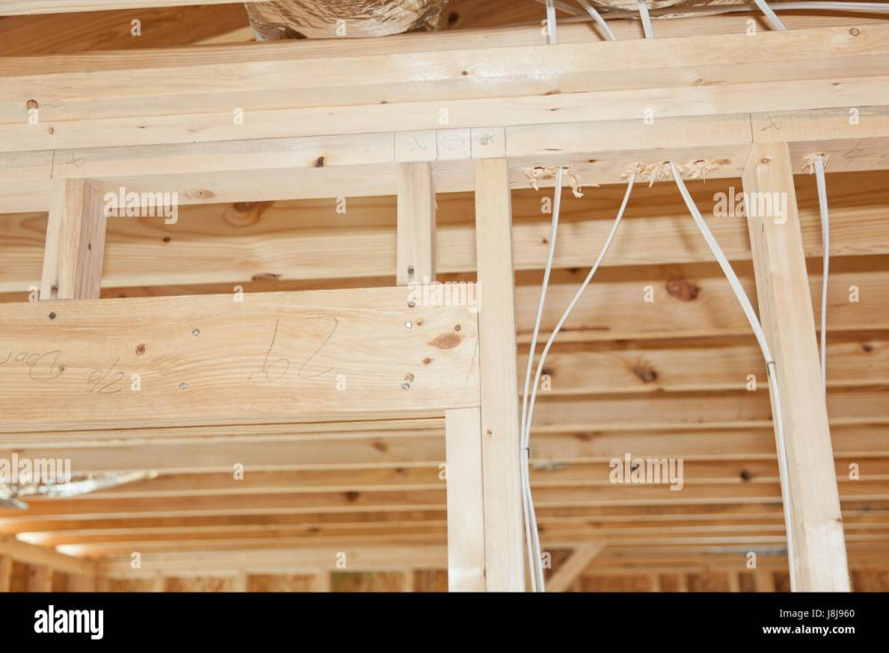 medium resolution of new home framing with electrical wires