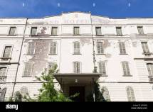 Facade Of Abandoned Grand Hotel Terme Salice