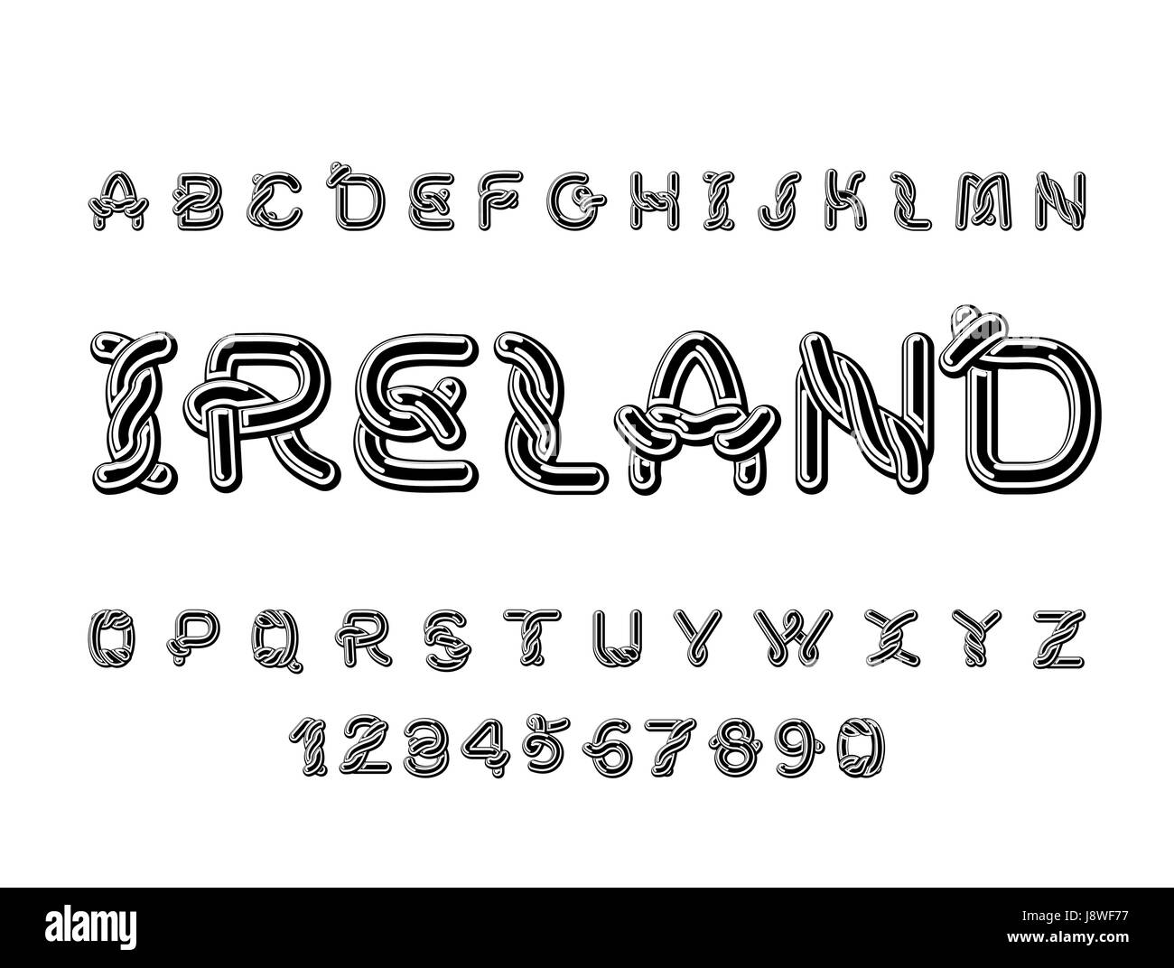 ireland font national celtic