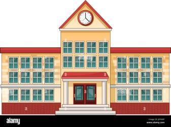 cartoon building education vector alamy illustration