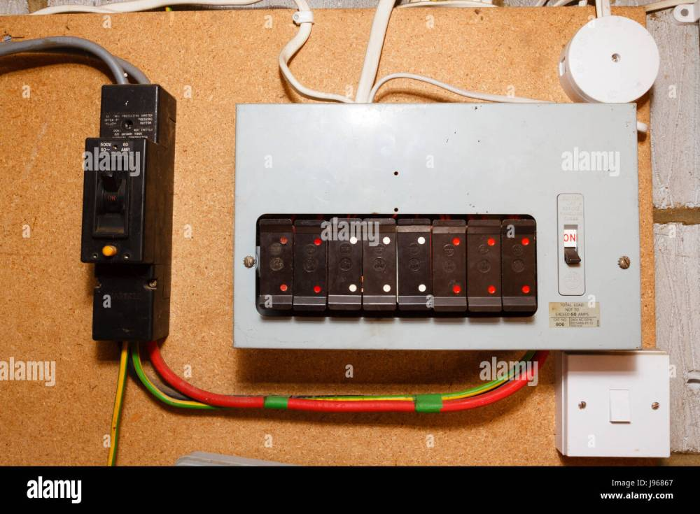 medium resolution of old style electrical fuse box uk stock image