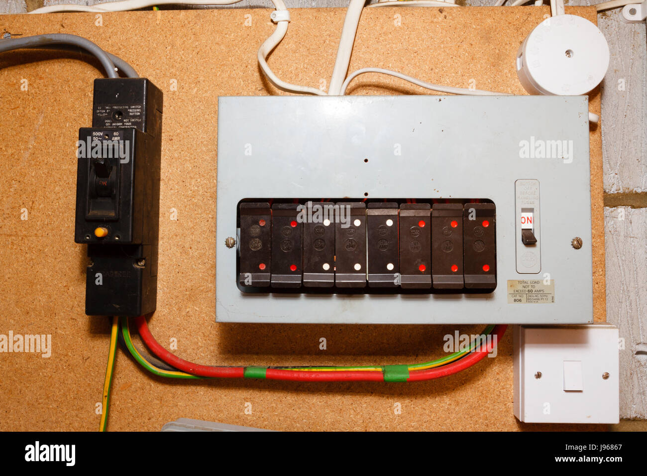 hight resolution of old style electrical fuse box uk stock image